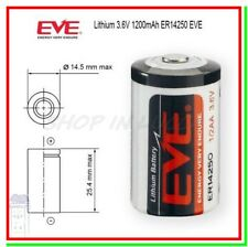 Batteria Pila EVE 14250 3,6V Li-SoCl2 1/2 AA Mezza Stilo 1200mAh Sensore Allarme