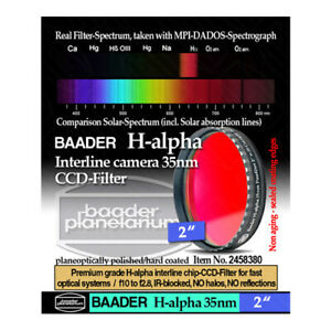 """Baader H-Alpha 35nm CCD Filter for Imaging - 2"""" # FHAL-2  2458380"""