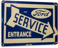 Ford Service Retro Dealer Logo Vintage Garage Shop Wall Decor Metal Tin Sign New