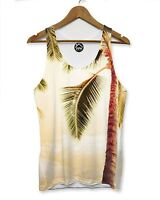 Pastel Palm Tree Tropical Mens VEST Top Holiday Man Tank Shirt Singlet 176