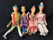 Marionnettes XIX ème Siècle pour Opéra ou Théatre Miniature Jouet Ancien