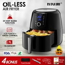 Maxkon New 7L Air Fryer LCD Health Cooker Low Oil Rapid Deep Frying 1800W Black