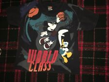 World Class Mickey Mouse Disney Basketball Graphic T Shirt Black Kids Small