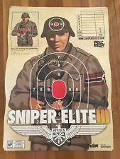 2014 PAX East Sniper Elite 3 Promo Poster Swag Hard To Find Rare Shooting Target