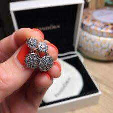 Elegance Drop Cz Earrings 290688Cz *New* Genuine Pandora S925 Ale Radiant