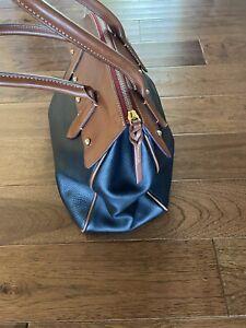 Vintage Dooney & Bourke Black Buckle Satchel Handbag Purse