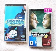 Lot of 2 PSP FOOTBALL GAMES: MANAGER HANDHELD & PRO EVOLUTION SOCCER 5! COMPLETE