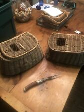 New ListingVintage Fishing Baskets+Grill Knife - Old!