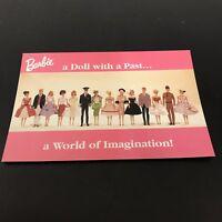 Nostalgic Barbie Dolls From The Past 1996 Postcard
