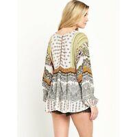 NEW from South V-Neck Boho Print Tunic Top Size SMALL OR MEDIUM rrp £34.00 BNWT