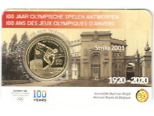 NEW !!! Coin Card 2,50 EURO COMMEMORATIVO BELGIO 2020 Olimpiadi Anversa NEW !!!