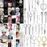 Kpop Bangtan Boys Kim Taehyung V Jimin Chain Ear Stud Earrings Jewellery Gifts
