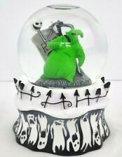 More details for disney the nightmare before christmas jack & oogie boogie snow globe with bats