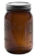 Mason Jar, Einmachglas, ELITE collection | 4er-Set | 32oz (950ml) | braunglas