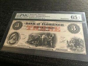 $3 1850's The Bank of Florence, Nebraska, PMG