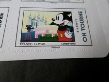 FRANCE 2018 timbre AUTOCOLLANT MICKEY CINEMA SILENCE ON TOURNE DISNEY neuf** MNH