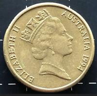 1994 BIRTH YEAR COIN SET AUSTRALIA 5, 10, 20, 50 CENT & $1, $2 = TOTAL 6 COINS