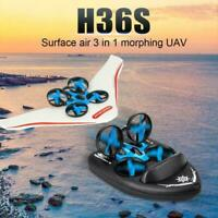 3 in1 RC Drone Boat Car Quadcopter Water Ground Air Mode E8T4
