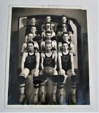Vintage Young Mens boys basketball team Photo High School Root Terre Haute Ind b