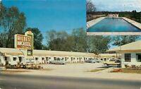 Statesboro Georgia~Wildes Motel~NICE 1950s Cars~Postcard