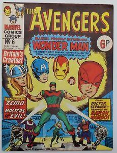 Avengers (1973) #6 Marvel UK Avengers #9 1st Wonder Man Kirby Cov Don Heck VG/FN