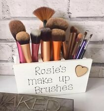 Handmade Personalised Wooden Make Up Brush Holder Mam Daughter Sister Friend