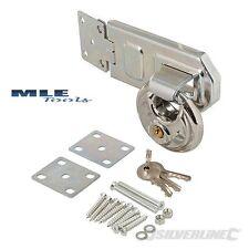 Silverline Disc Lucchetto Inox & Steel PORTALUCCHETTO 2pce Capannone officina LOCK 492211