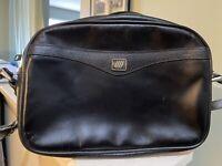 United Airlines StewardessBlack Leather Vintage Shoulder Purse!