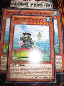 YU-GI-OH! COM CHARIOTUS SYLVAN PRIO-FR020 (PLAYSET) 3 CARTES MINT NEUF