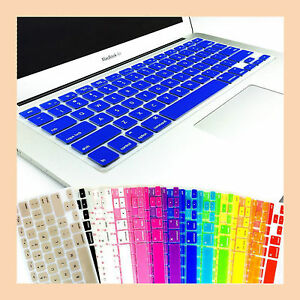 """Colourful Soft Silicone Keyboard Cover for Apple MacBook Pro 13"""" 15"""" 17"""" Air"""