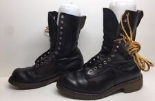 VTG MENS RED WING WORK LEATHER BLACK BOOTS SIZE 8.5 E