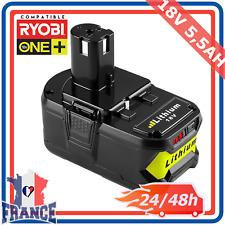 Batterie compatible Ryobi One Plus 5.5ah 18v Rb18l25 Rb18l50 P108 P107 P104 P780