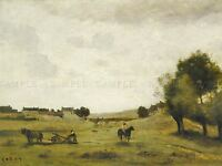 JEAN BAPTISTE CAMILLE COROT FRENCH VIEW EPERNON OLD ART PAINTING POSTER BB5818A