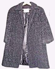 VTG BURTON's of Manchester CT 100% Wool Black Coat Textured Design