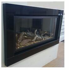 Pinnacle 860 High Efficiency Gas Fire with Black Glass Trim & 5 Year Warranty
