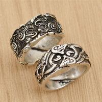 Adjustable Viking Dragon Rune Ring Norse Viking Finger Rings Jewelry Unisex Gift