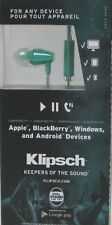 Klipsch S4A S4i S3m In Ear Buds Headphones iPhone Android Jade Green