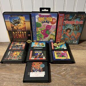 Sega Genesis Video Game Lot Sonic Double Dragon 10 Games All TESTED Working CIB