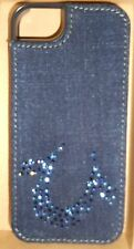 "TRUE RELIGION JEANS iPHONE 5/5s CASE COVER ""CASEY"" SNAP ON SWAROVSKI & DENIM NW"
