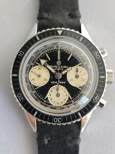 Favre Leuba Sea Sky 33033 Vintage Chronograph Diver Valjoux 72