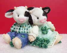 Mary's Moo Moos Lucky To Have Each Udder Irish Couple Cow Figurine