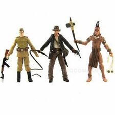 Free Ship New Lot 3 Indiana Jones Ugha Warrior Crystal Skull Soldier Figure SX57
