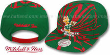 Bucks 'EARTHQUAKE SNAPBACK' Green Hats by Mitchell & Ness
