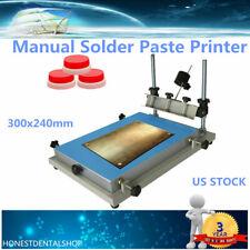S Size Manual Solder Paste Printer Prin 00004000 ting Pcb Smt Stencil Printer 3024 Ups