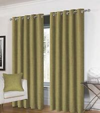 One Pair Of Luxurious Thick Heavy Chenille Eyelet Jakarta Fully Lined Curtains