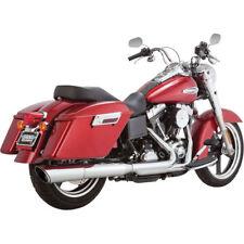 Vance & Hines Chrome Twin Slash 2-Into-1 Slip-On Exhaust Muffler Harley FLD FXDL