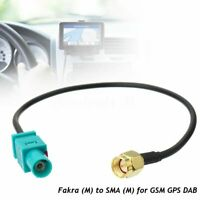 Antenna Adapter Plug Cable Fakra Z (Male) to SMA (Male) For GSM GPS DAB