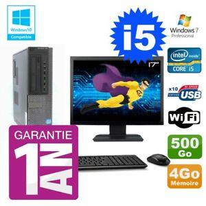 """PC Dell 790 DT Intel I5-2400 4Go Disque 500Go Graveur Wifi W7 Ecran 17"""""""