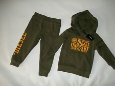 DIESEL 2 Pc Outfit Sweatsuit Hooded SWEATSHIRT Sweatpants Boys 18 Months Rt $69