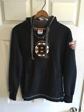 BOSTON BRUINS NHL Majestic BLACK HOODIE HOODED SWEATSHIRT Women's Size M Med